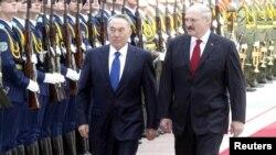 Нұрсұлтан Назарбаев пен Александр Лукашенконың кездесуі. Минск, 14 мамыр 2012 жыл.
