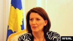 Kosovo President Atifete Jahjaga (file photo)