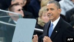 ԱՄՆ - Նախագահ Բարաք Օբաման ելույթ է ունենում իր երդմնակալությունից հետո, Վաշինգտոն, 21-ը հունվարի, 2013թ.