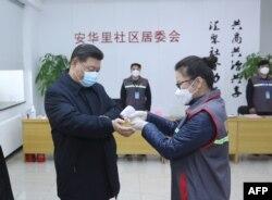 Қытай басшысы Си Цзиньпин Пекиндегі ауруханада. 10 ақпан 2020 жыл.