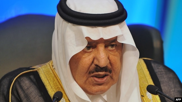 Saudi Interior Minister and Crown Prince Nayef bin Abdel Aziz in November 2011