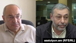 Նախկին վարչապետ Վազգեն Մանուկյան և նախկին ԱԳ նախարար Ալեքսանդր Արզումանյան, արխիվ