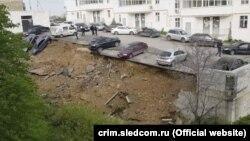 Обрушение парковки в Севастополе