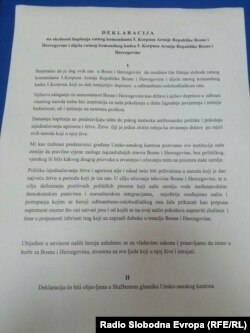Deklaracija Skupštine Unsko-sanskog kantona