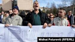 Demonstracije ispred Parlamenta BiH u Sarajevu
