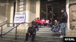 Štrajk zaduženih u švajcarskim francima u Beogradu