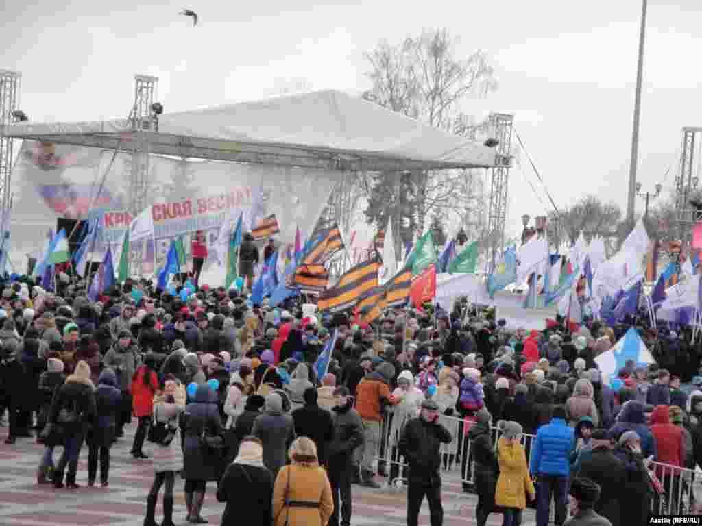 В Уфі, столиці Республіки Башкортостан, теж зібрався мітинг
