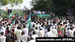 Пәкістан мұсылмандары исламға қарсы фильмге наразылық шарасында. Исламабад, 21 қыркүйек 2012 жыл.