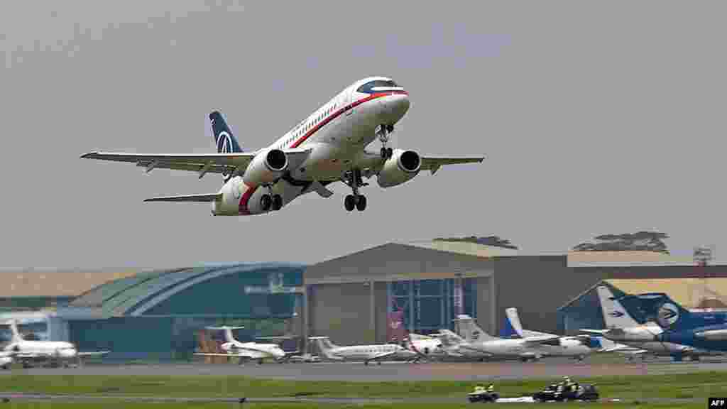 A handout photo of the Sukhoi Superjet 100 that crashed as it took off for a demonstration flight on May 9 from Jakarta's Halim Perdanakusuma Airport.
