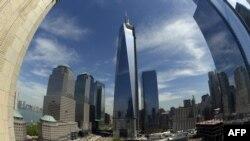 Вид на новый Всемирный торговый центр. Нью-Йорк, май 2013 года.