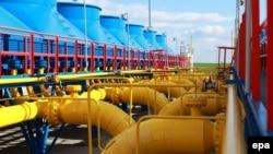 """Газокомпрессорная станция в Вельке Капушане на границе Словакии с Украиной. Действующий контракт """"Газпрома"""" со словацкой газотранспортной компанией Eustream заключен на период до 2029 года."""