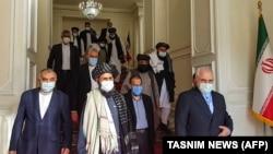 دیدار هیات طالبان با اعضای دولت وقت ایران