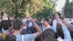 Акция националистов у метро Новокузнецкая
