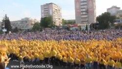У Черкасах встановили рекорд із присідань за єдність України
