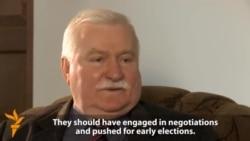 Lech Walesa Criticizes Russia, Ukrainian Protest Movement