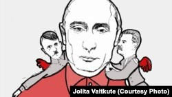 Путин и его советчики. Рисунок Йолиты Вайткуте