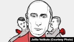 «Путін і його радники», малюнок Йоліти Вайткуте