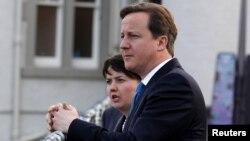 Ұлыбритания премьер-министрі Дэвид Камерон Шотландиядағы жұмыс сапары кезінде. Саут-Квинсферри, 16 ақпан 2012 жыл