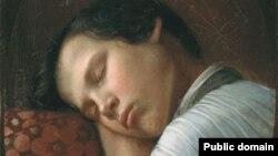 تابلوی «پسری در خواب» از نیکیفور کریلوف، هنرمند روس