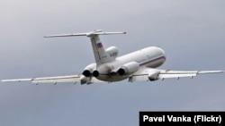 Un avion Tu-154M