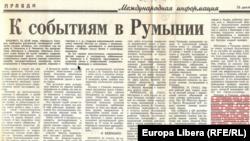Corespondență de la București a lui Vl. Vedrașko din 26 decembrie 1989