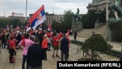 Protest ispred Skupštine Srbije, 17. maj 2020