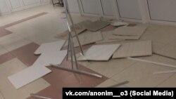 Рухнувшие потолки в школе в столице Бурятии