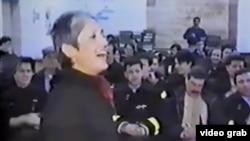 A screen-grab of Joan Baez on her landmark visit to Sarajevo in 1993. Billionaire philanthropist George Soros had helped arrange her trip to the besieged Bosnian city.