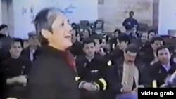 Америкалық фолк-әнші Джоан Баэз Сараевода концерт қойып тұр. 1993 жыл.