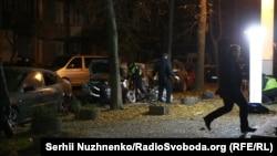Последствия взрыва у здания телеканала «Эспрессо», Киев, 25 октября 2017 год