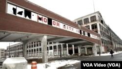Корпуса одного из покинутых заводов в Детройте