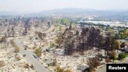 Prizor nakon požara u Santa Rosi, Kalifornija, 11. oktobar 2017.