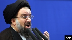"Senior cleric Ayatollah Ahmad Khatami said the ""issue of protests against the presidential election is over,"" and called for rioters to be executed."