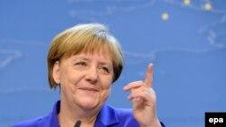 Cancelarul german Angela Merkel la Conferința de presă după reuniunea Consiliului European