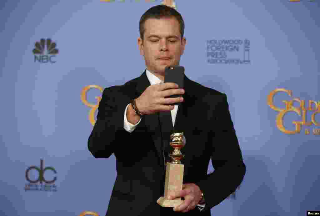 مت دیمون برای فیلم «مریخی» جایزه بهترین بازیگر کمدی یا موزیکال را از آن خود کرد