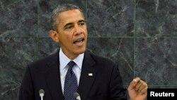 Барак Обама на сессии Генассамблеи ООН