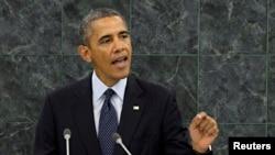 Барак Обама выступает на сессии Генассамблеи ООН