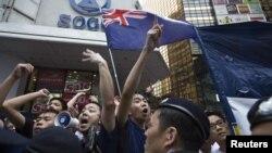 Protestari pro-democrație în Hong Kong