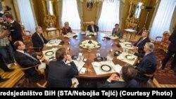 Лидерите на земјите во Процесот Брдо-Бриони на 3 јуни 2017 во Брдо кај Крањ