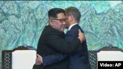 Лидерите на Северна и Јужна Кореја, Ким Џонг Ун и Мун Џае Ин