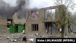 Бомбардування Ґорі російськими військами у серпні 2008 року