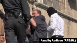 Azerbaijan -- journalist Rauf Mirgadirov, 6 May 2014.