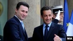 Од средбата на премиерот Груевски со францускиот претседател Саркози