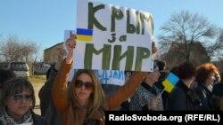 Акция крымчанок против аннексии, 3 марта 2014 года