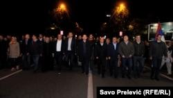 Protestni marš u Podgorici, 24. oktobar 2017.