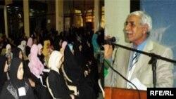 محافظ البصرة شلتاغ عبود يلقي كلمة يعد فيها بإطلاق مشروع البترودولار