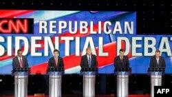 Pamje nga një debat presidencial i republikanëve