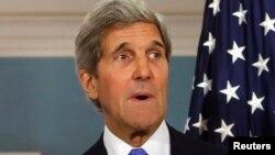 ԱՄՆ-ի պետքարտուղար Ջոն Քերրին ասուլիսի ժամանակ, մայիս, 2014թ․