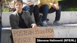 Protest radnika u Sarajevu, april 2015.