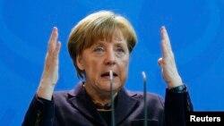 Канцлер Германии Ангела Меркель (Берлин, 17 февраля 2016 года)